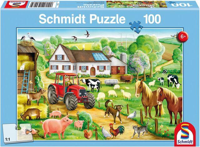 Schmidt Merry Farmyard Jigsaw Puzzle 100 Pieces