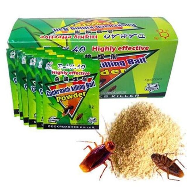 50pcs Effective Powder Cockroach Killing Bait Roach Killer ...