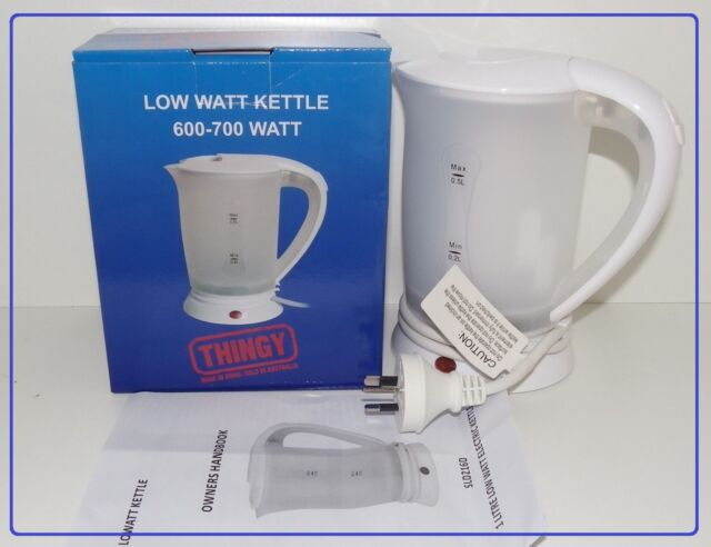 LOW WATT KETTLE camping caravaning boating generated powered sites offices 600-7