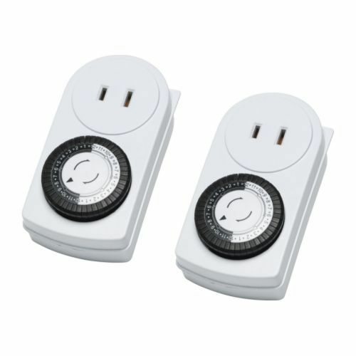 IKEA 2 Pack Timer Wall Outlet 24 Hours Indoor Light Lamp Ungrounded Tanda |  EBay