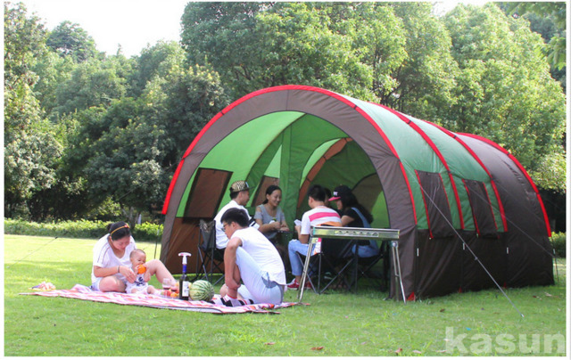 8-10 Person Waterproof Family C&ing Hiking Travel Instant House Party Tent & 8-10 Person Layer Waterproof Family Camping Hiking Travel Instant ...