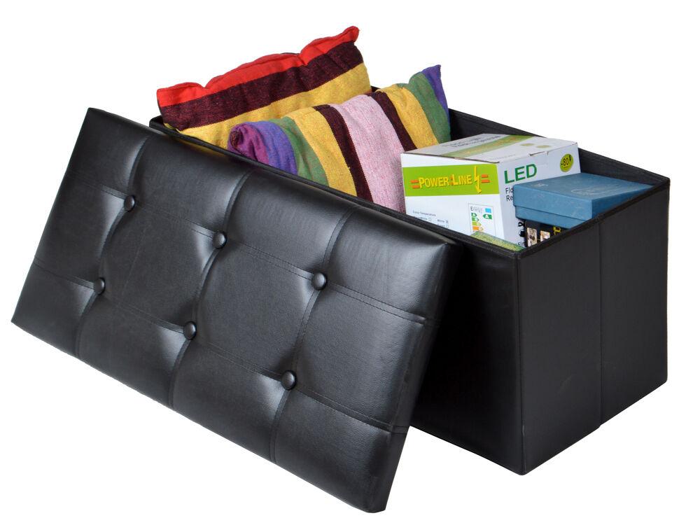 foot rest storage 15 cube faux leather folding storage ottom