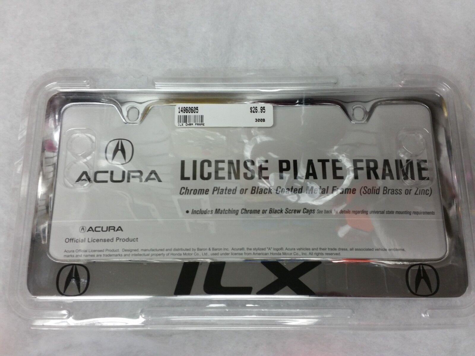 Acura ILX Chrome Finish License Plate Frame (14960605) | eBay