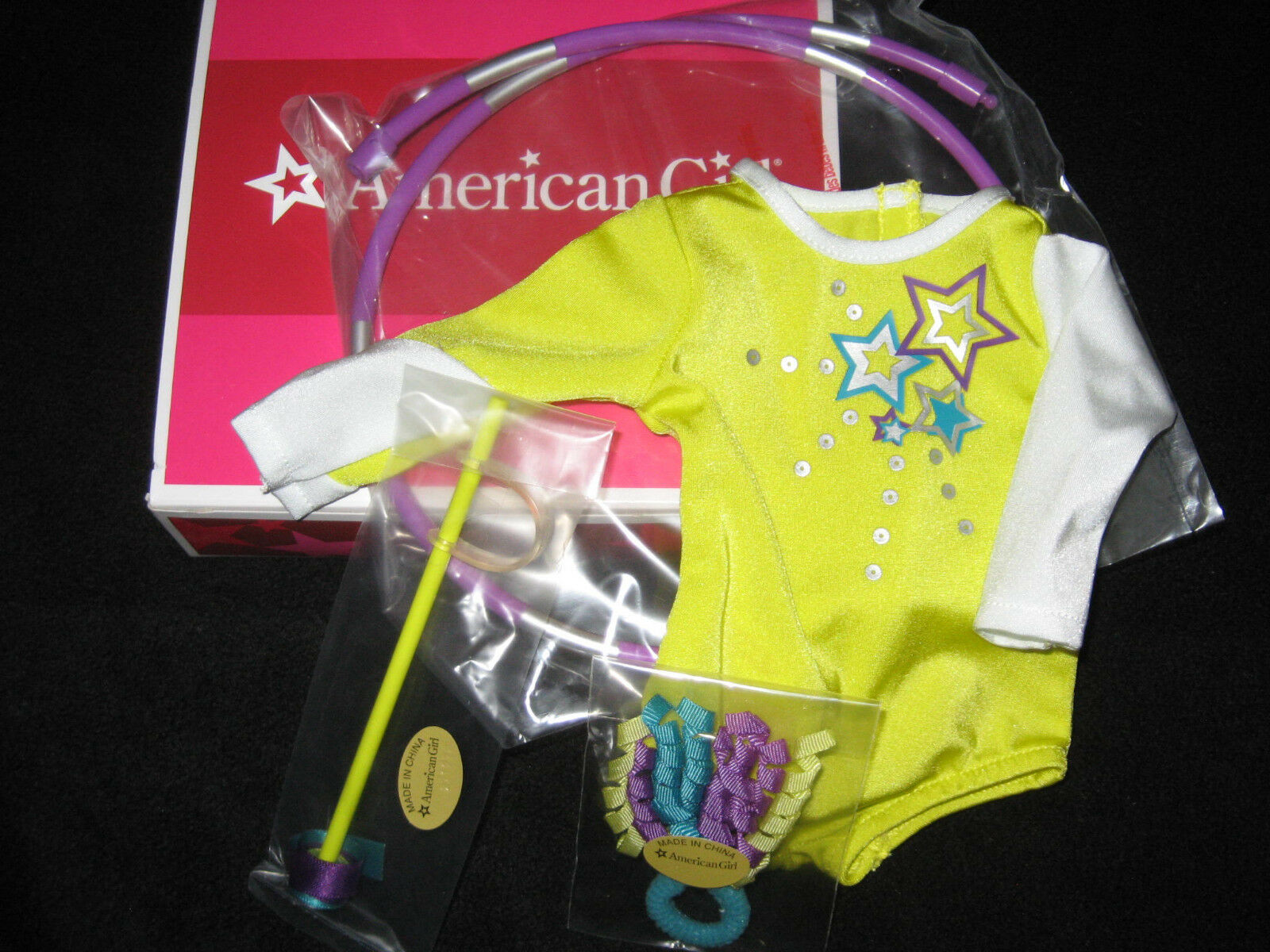 American Girl McKenna/'s PRACTICE WARDROBE Outfit SET Leotard for Gymnastics DOLL