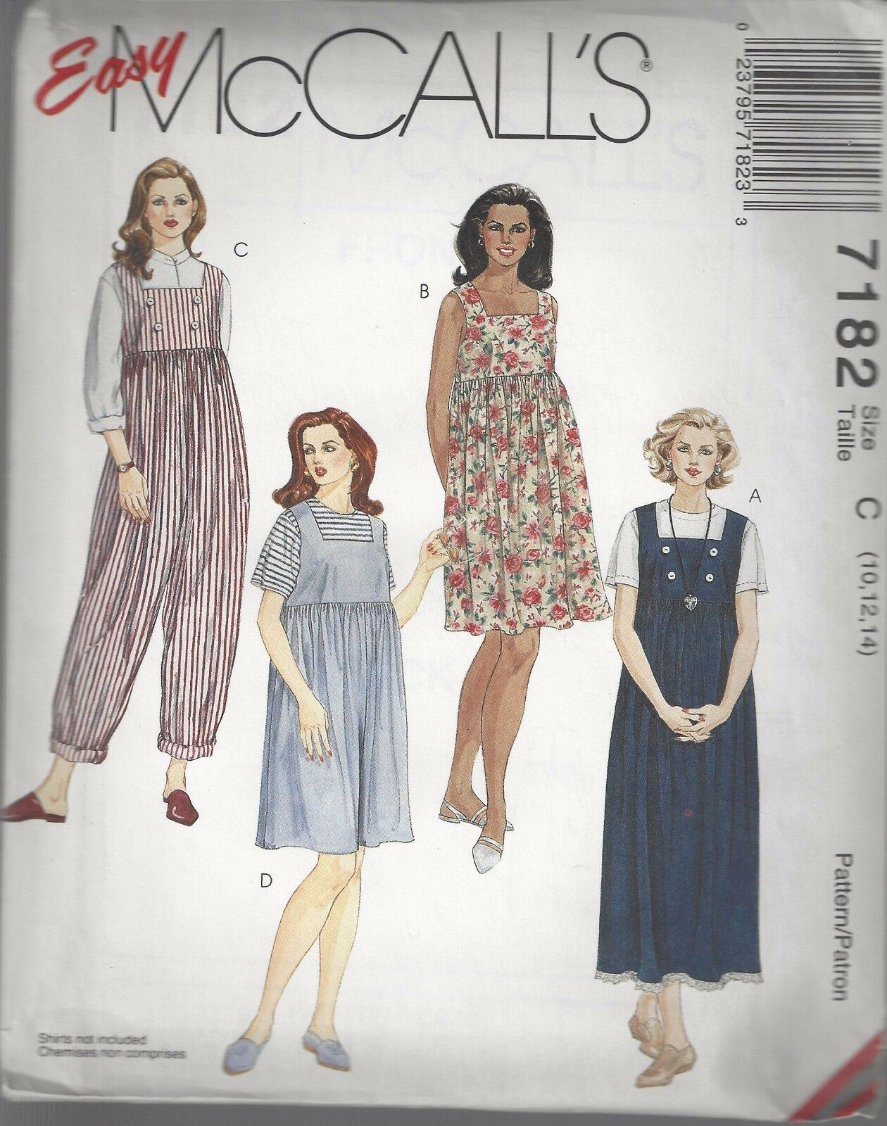 Mccalls sewing pattern 7182 maternity dress jumper jumpsuit romper picture 1 of 2 ombrellifo Image collections