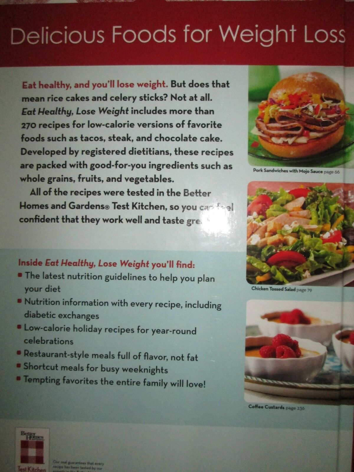 Better Homes and Gardens Eat Healthy Lose Weight 270 Recipes 2010   eBay