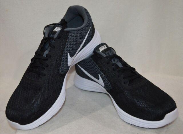 Nike Revolution 3 Dark Grey/White/Blk Men's Running Shoes-Asst Szs NWB