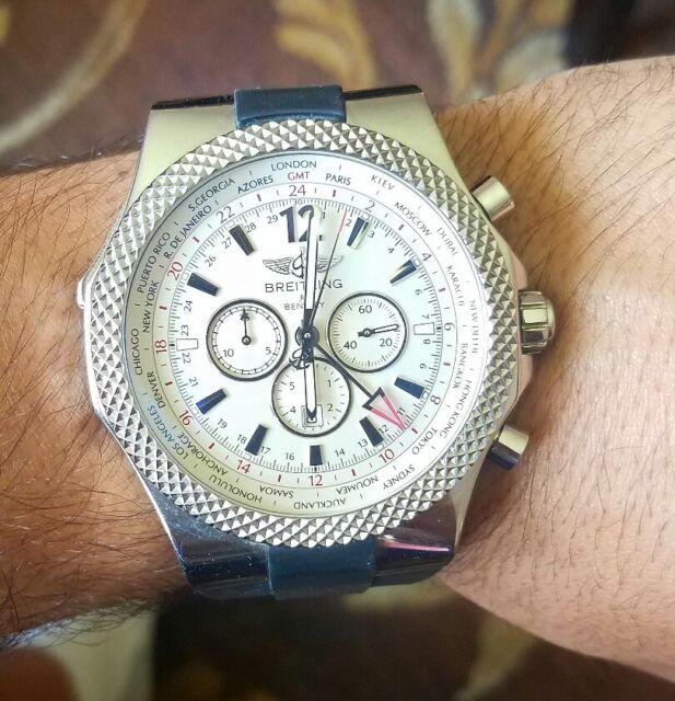 Breitling Bentley Gmt Wristwatches: Breitling Bentley GMT A47362S4-B919 Wrist Watch For Men