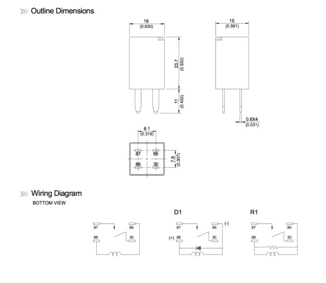 s l640 wiring diagram 120v spno relay 120v relay switch, solid state general purpose relay wiring diagram at fashall.co