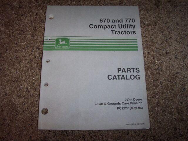 parts manual jd p pc2227 john deere 770 670 ebay rh ebay com