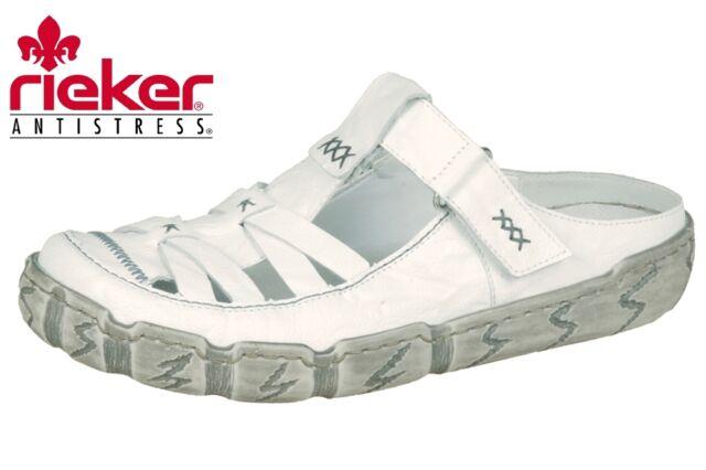 Rieker L0396 Damen Clogs, Weiß (weiss/80), 36