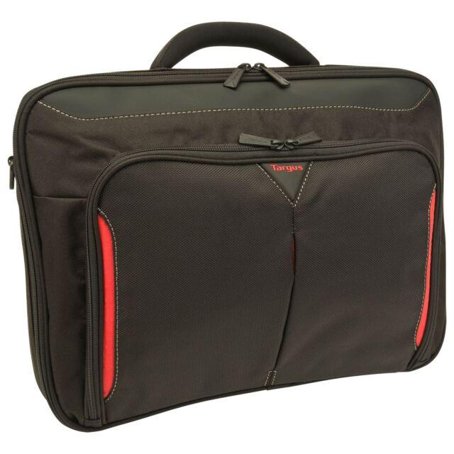 "TARGUS CLASSIC 15.6"" CLAMSHELL DESIGN BREIFCASE LAPTOP BAG BLACK & RED (CN415EU)"