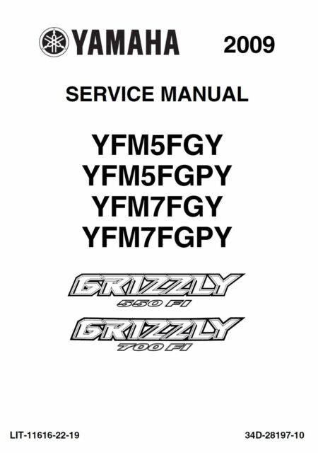 2009 yamaha grizzly 550 fi 700 fi service repair maintenance shop rh ebay com grizzly 700 manual service grizzly 700 manual service