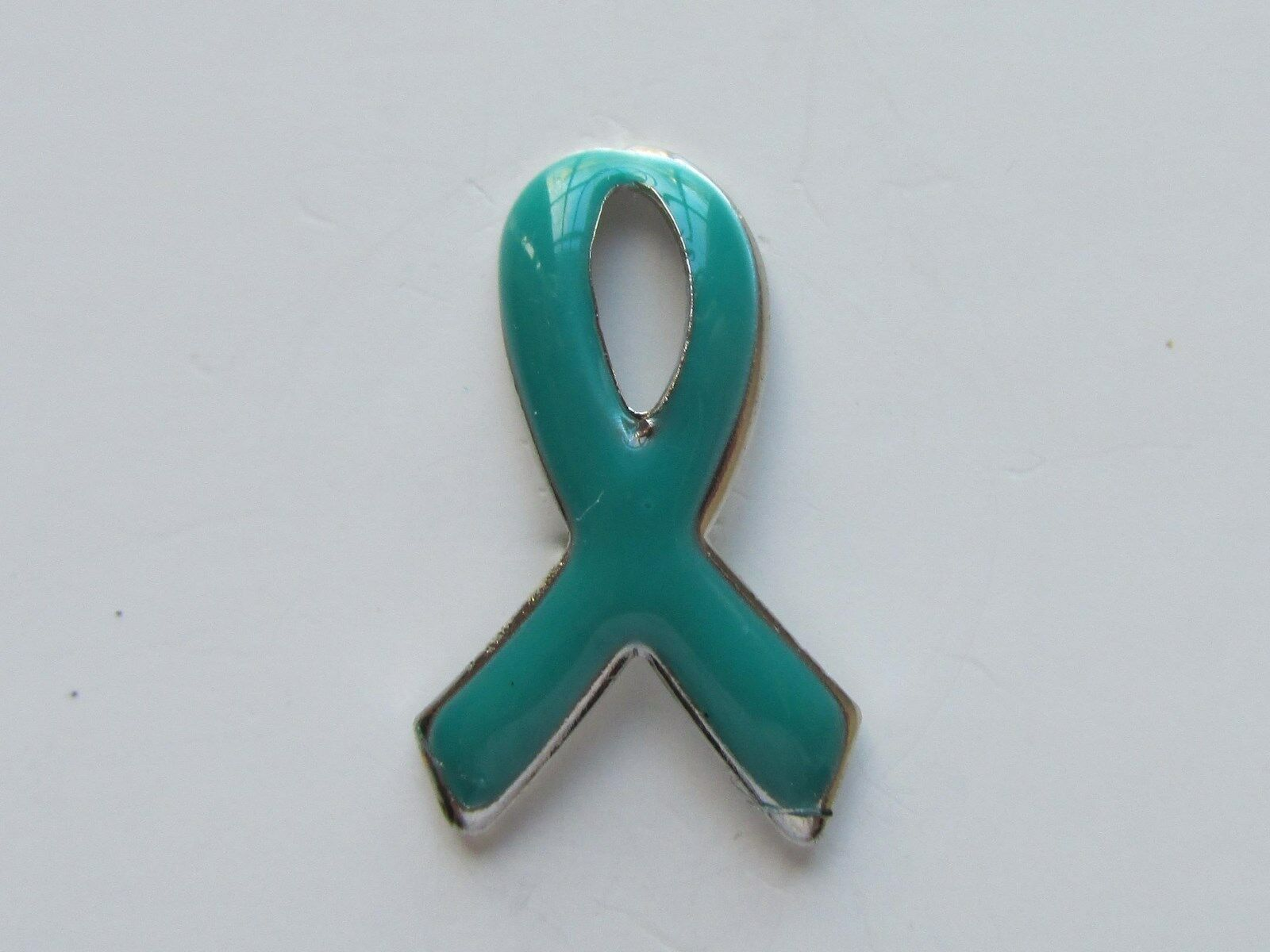 12 enamel teal ribbon awareness pins ovarian cervical cancer sh picture 1 of 2 biocorpaavc