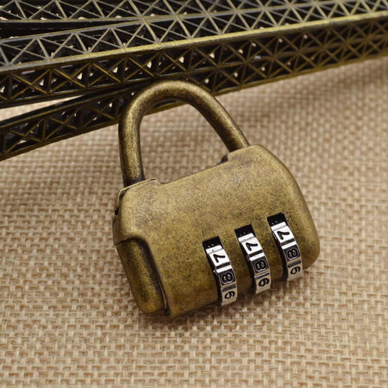 Vintage 3 Digits Password Chinese Old Style Cabinet Lock for Door ...
