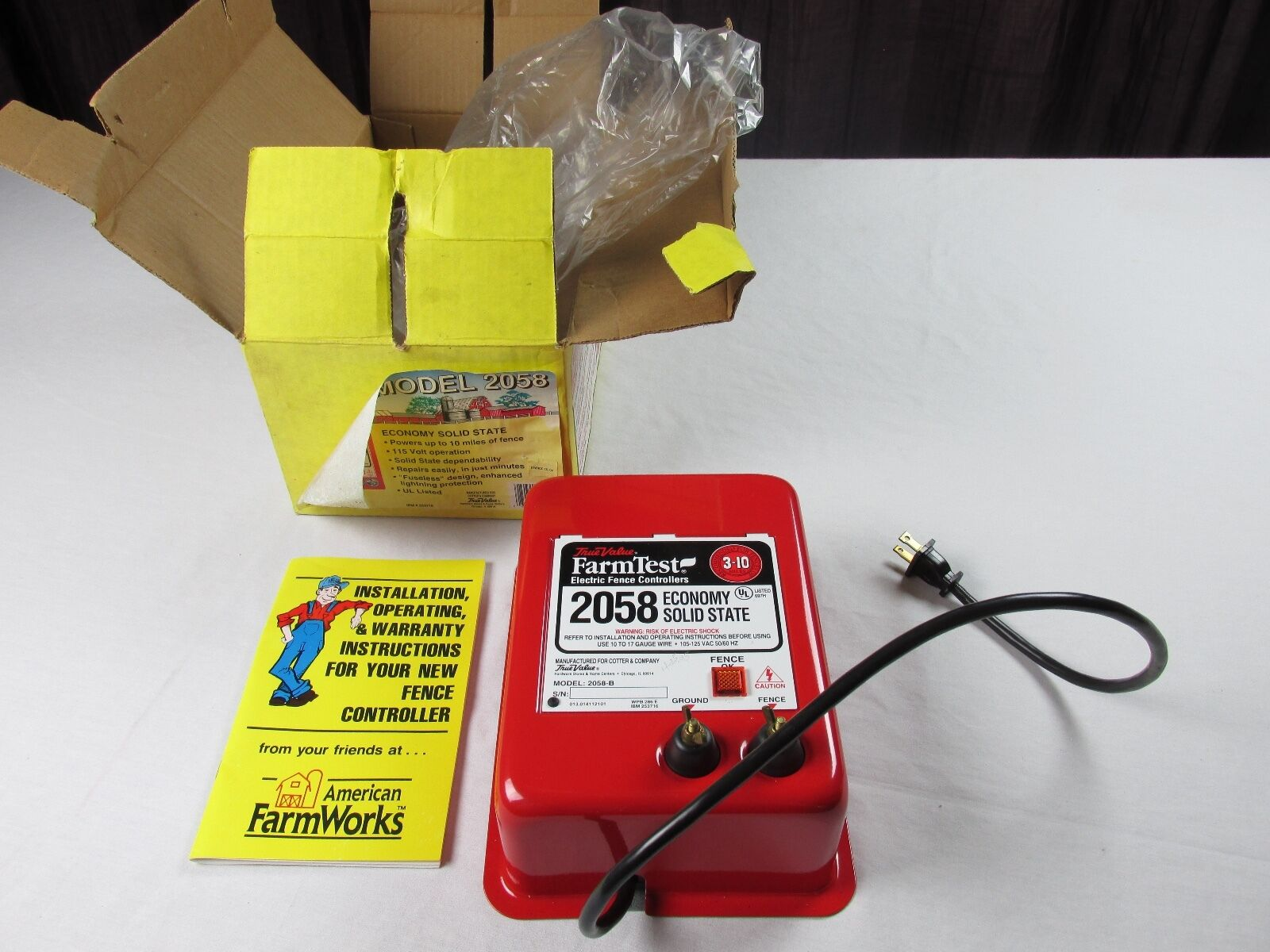 Farmtest electric fence controller model 2058 10 mile fence 115v picture 1 of 7 sciox Choice Image