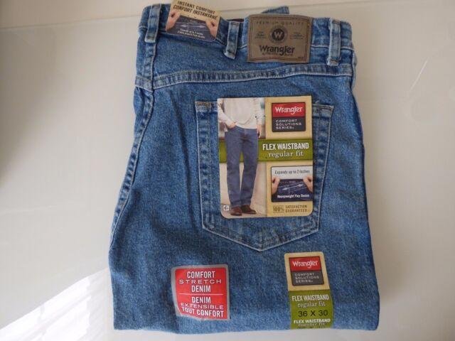 denim size fit regular stonewash dp wrangler at flex waistband comfort comforter blue