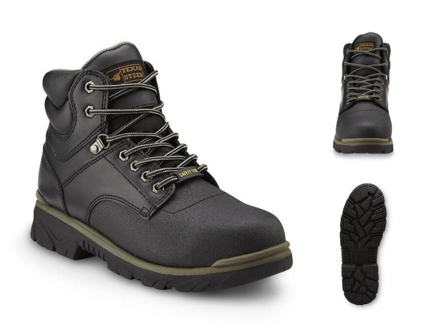 2 pairs steel toe work boots menu0027s safety shoes lightweight oil slip resistant 7 ebay