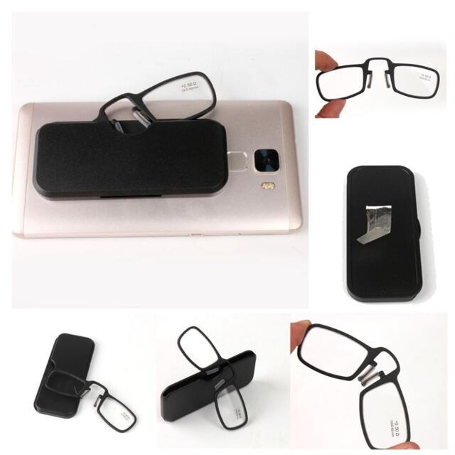 77d21377cb Mini Nose Clip Reading Glasses with Case 1.0 1.5 2.0 2.5 3.0 3.5 OZ AU
