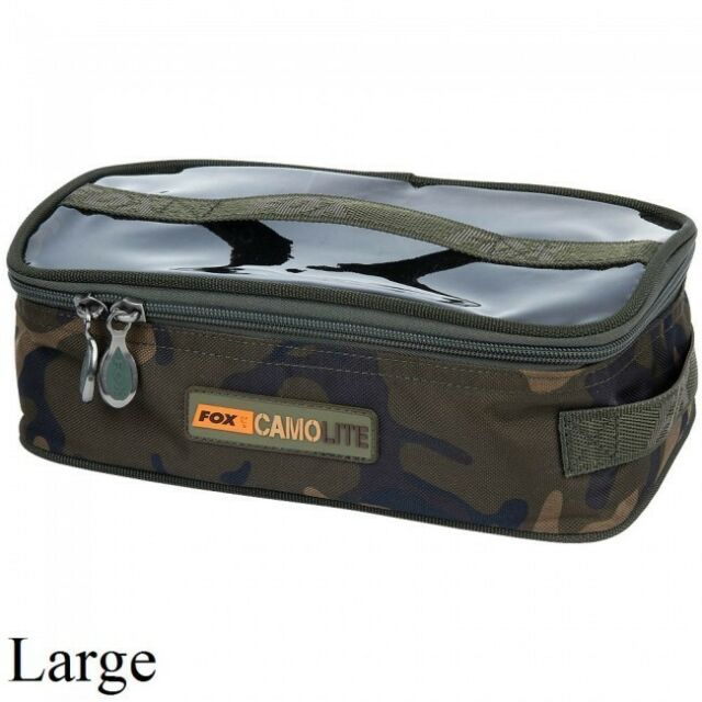 Fox NEW Carp Fishing Camo Lite CamoLite Large Accessory Bag CLU303