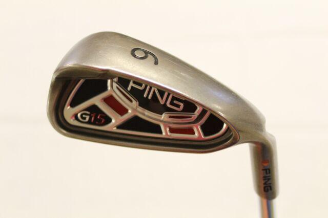Used Ping G15 G-15 Single 6 Iron Ping AWT Regular Flex Steel Shaft Brown Dot