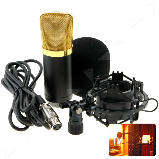 Condenser Microphone Kit Studio Suspension Boom Scissor w/ Stand Holder Sound AU