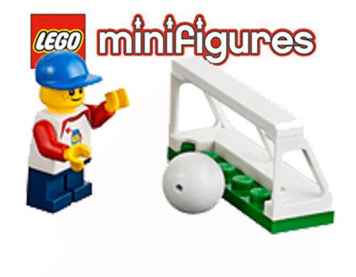 LEGO® Minifig City - kleiner Fußballer mit Tor und Ball aus dem Set 60134