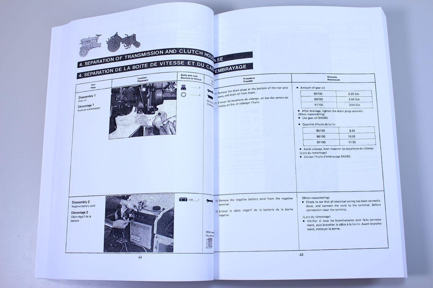 Kubota B6100hst Service Manual And Repair Guide B6100 Wiring Diagram B5100 Tractor Diagrams Security Alarm Window B 6100