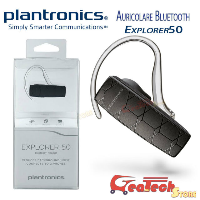 PLANTRONICS Auricolare Bluetooth EXPLORER 50 Multipoint Per Smartphone e Tablet