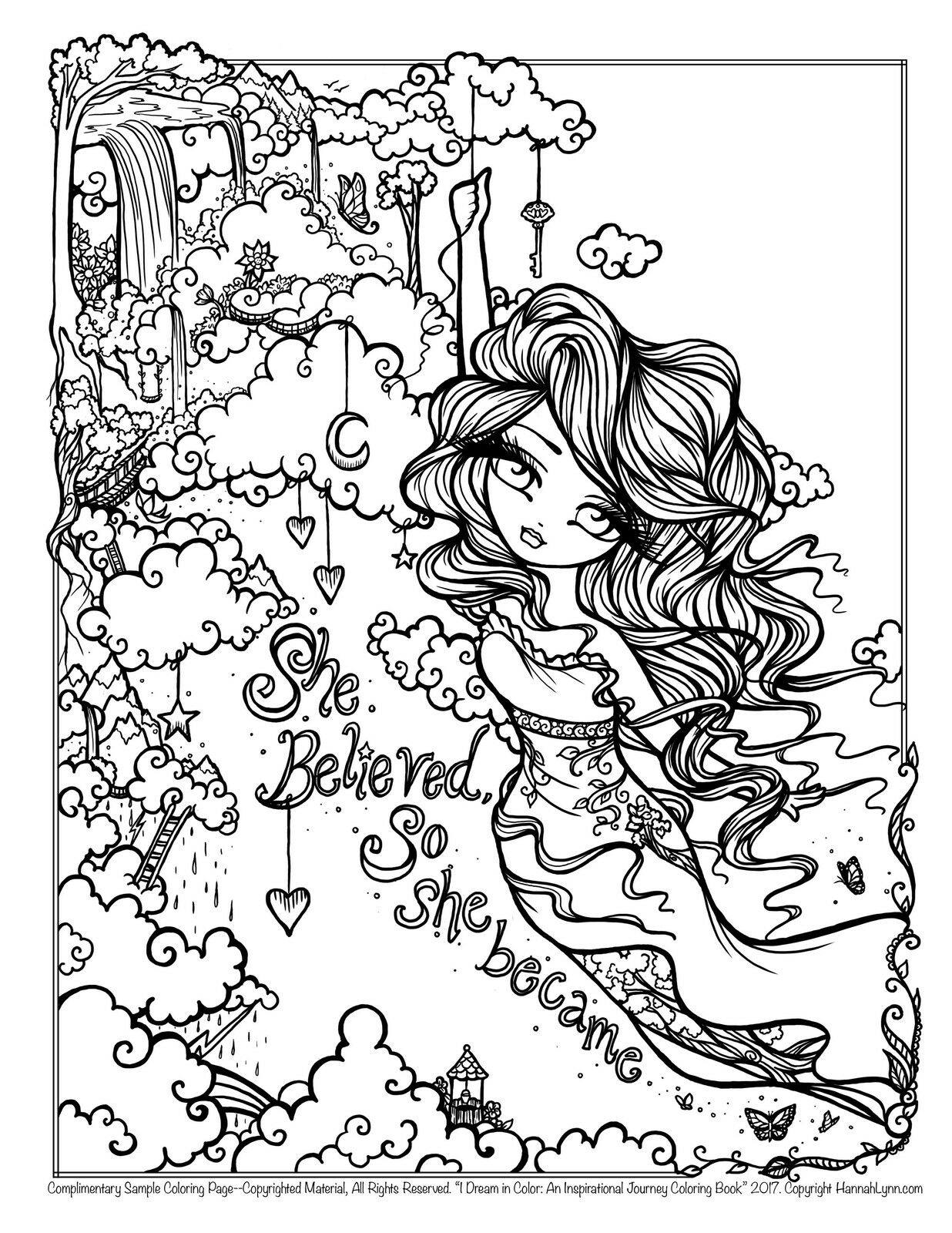 I Dream In Color An Inspirational Journey Coloring Book By Hannah