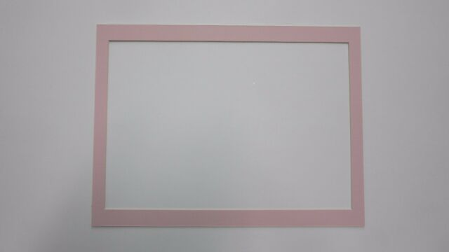 Picture Framing Mats 12x16 for 10x14.5 Custom Mat Pink Color