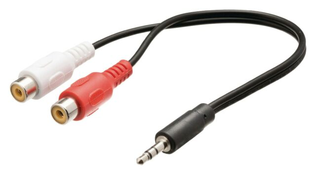 ADAPTER CORDON JACK CABLE MALE TO RCA CINCH FEMALE 0.20 m NEW