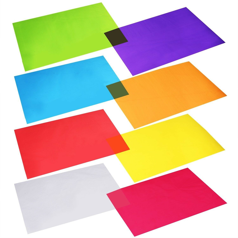 104 Pcs Cellophane Wraps 8 Colors Cello Sheets 118x 85 Diy Craft