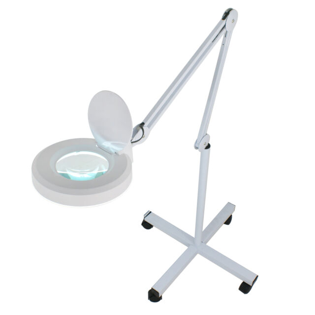 Pro 5x diopter led magnifying floor stand lamp magnifier for Floor standing led magnifying lamp