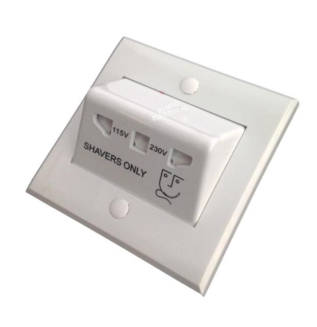 Greenbrook HS1 Dual Voltage Shaver Socket (fits single gang box)