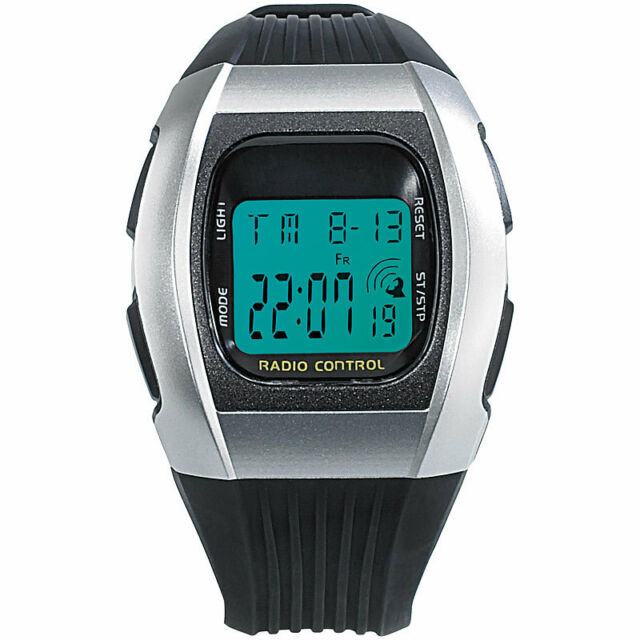 "Funkarmbanduhr: Digitale Unisex-Sport-Funkuhr mit LCD-Display ""SW-640 dcf"""
