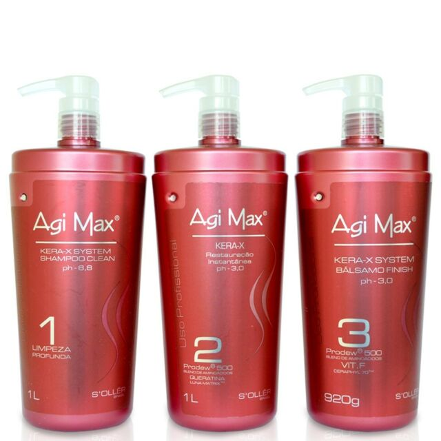 AGI Max Kera-x Luna Matrix Brazilian Keratin Treatment Kit 166x16 ...