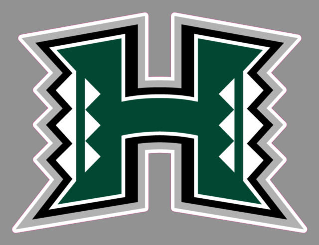 University of hawaii warriors 6 wide premium vinyl decal bumper sticker ncaa