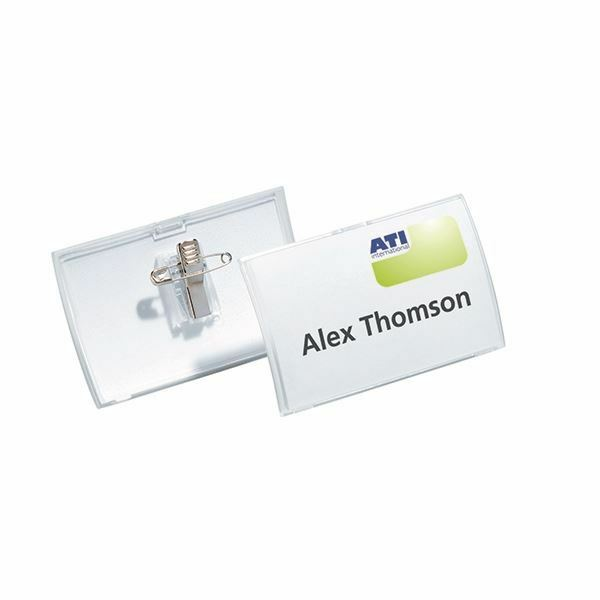 Durable 54x90mm Combi Clip Name Badge (Pack of 25) 8214/19 [DB80305]