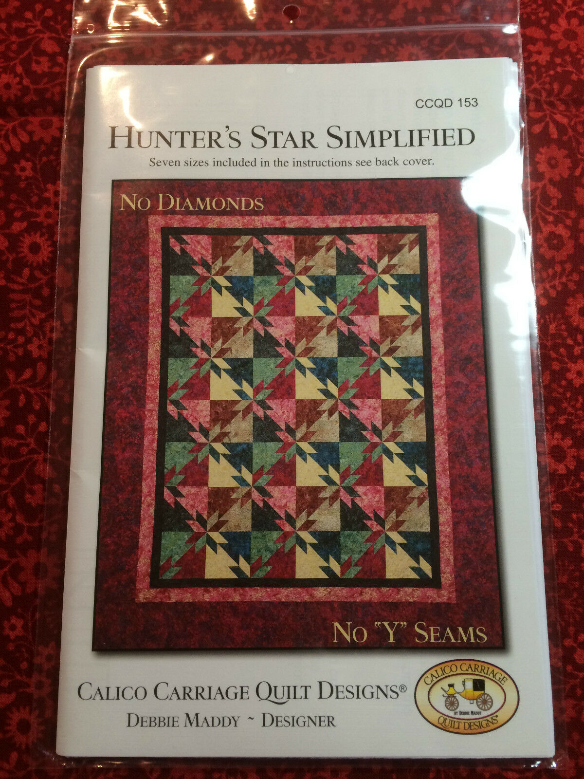 Calico Carriage Quilt Pattern Hunter's Star Simplified 7 Sizes No ... : calico carriage quilt designs - Adamdwight.com