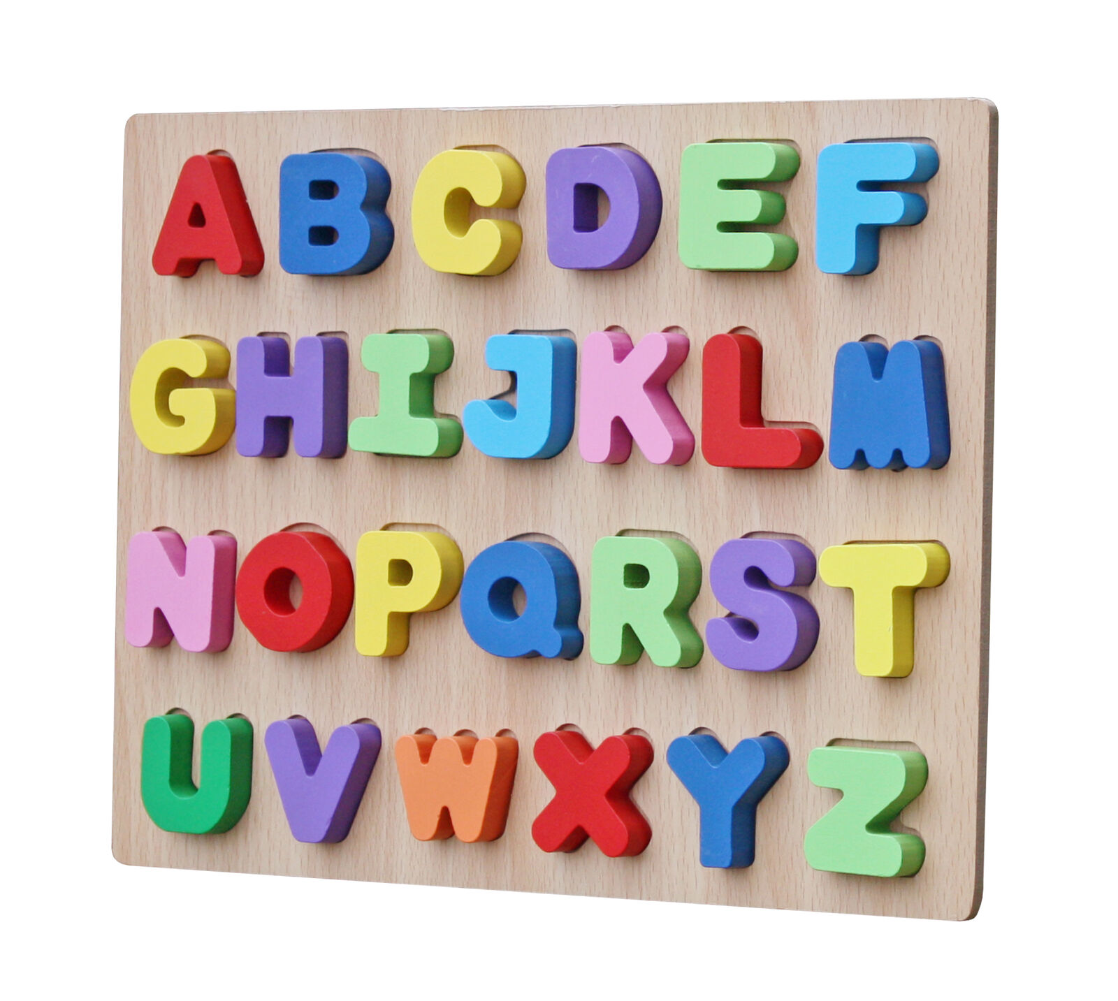 Timy Wooden Alphabet Puzzle Board Kids Learning Toy Develops Motor
