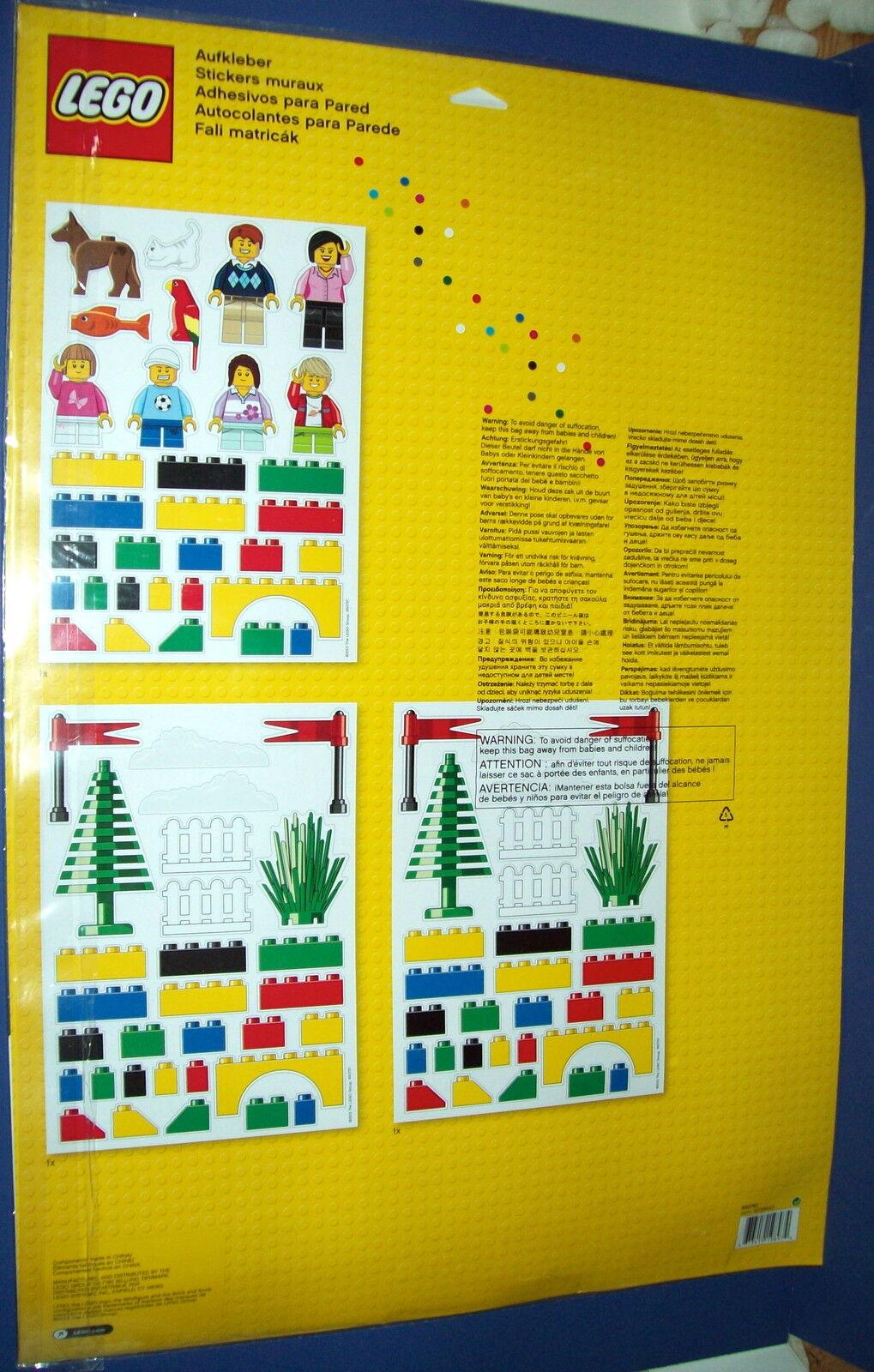 Lego 850797 Large Wall Mini Figure Wall Decoration Stickers Bricks ...