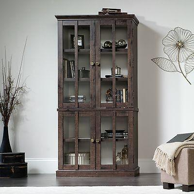 Bon Tall Display Cabinet   Coffee Oak   New Grange Collection (419065)