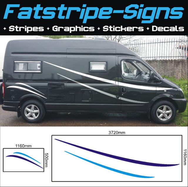 M Motorhome Vinyl Graphics Stickers Decals Stripes Camper Van - Graphics for caravanscaravan stickers ebay