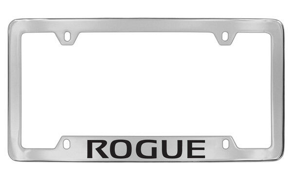 Nissan Rogue Bottom Engraved Chrome Plated Metal License Plate Frame ...