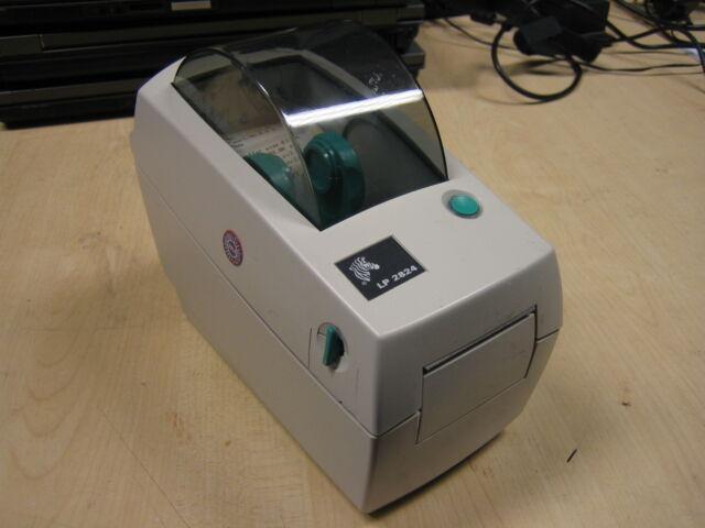 Zebra 2824 2824-21100-0001 Small Thermal Label Barcode Printer USB RS232 Inc PSU