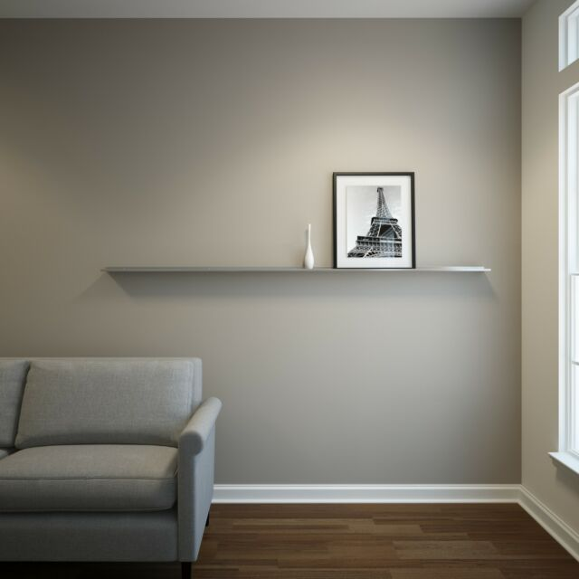 EXTRA DEEP 7 Ft Stainless Steel Floating Ledge For Photos And Pictures