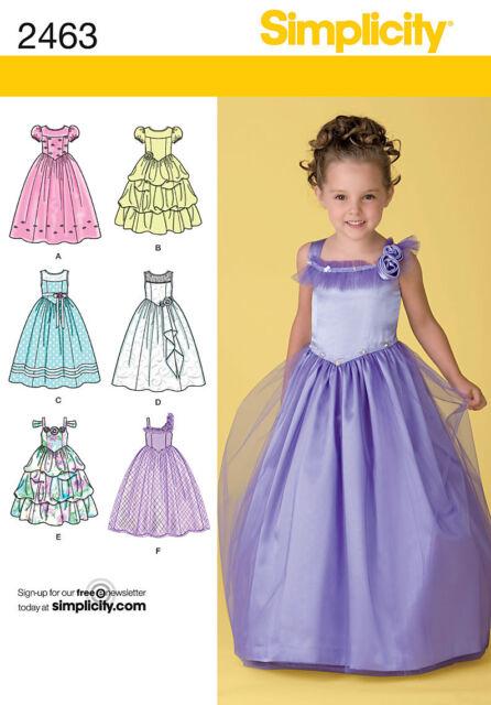 Simplicity Schnittmuster 2463 festliche Kleidung Kinder Gr. 30-36 | eBay