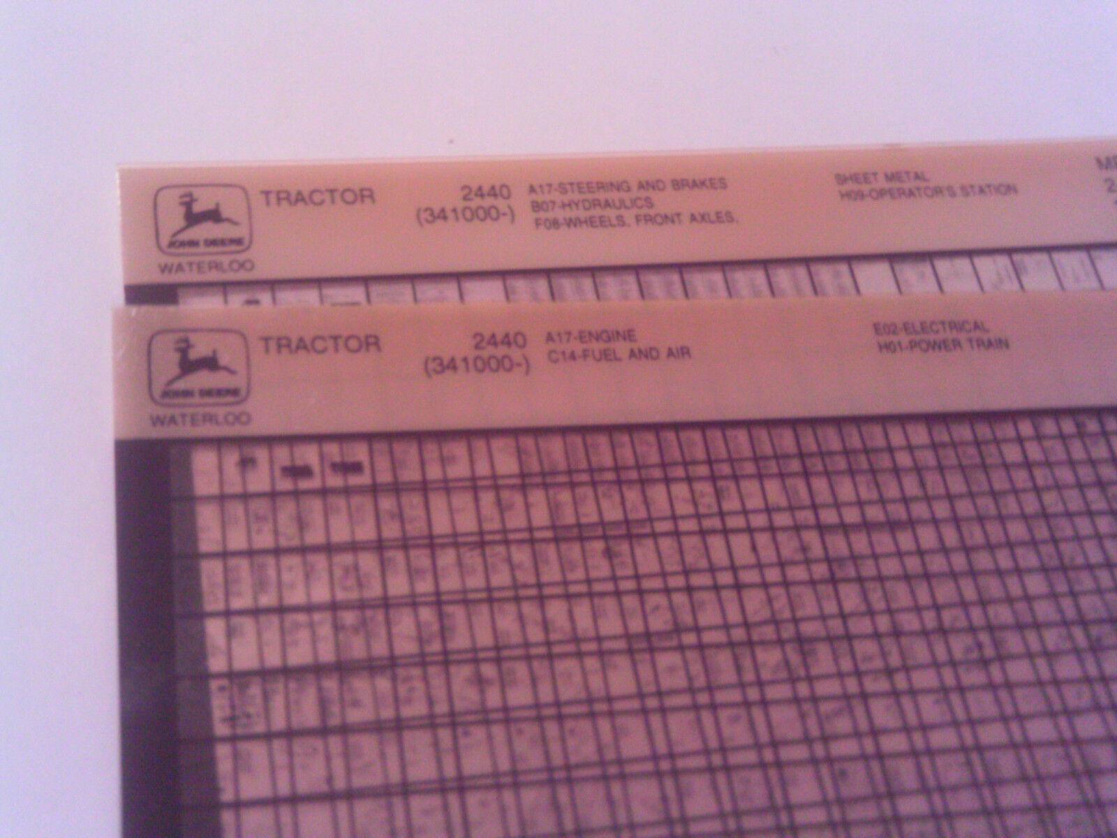s l1600 john deere 2440 tractor parts manual (sn 341 000 & up) ebay
