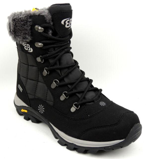 BRUTTING Damen Winter Schnee Stiefel schwarz Warmfutter Vibram TEX 36 bis 43